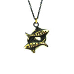 "Walter Bosse Brass Pisces Fish Necklace — ""Fische"" — 5283N"