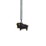 "Walter Bosse Brass Taurus Bull Necklace — ""Stier"" — 2002N"