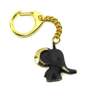 "Walter Bosse Brass Elephant Keychain — ""Elefant"" — 5262A"