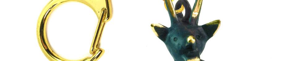 """Walter Bosse Brass Devli Keychain — """"Teufel"""" — 5437A"""