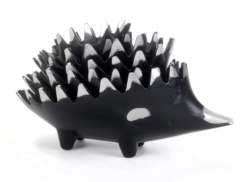 Walter Bosse Aluminum Hedgehog Ashtrays