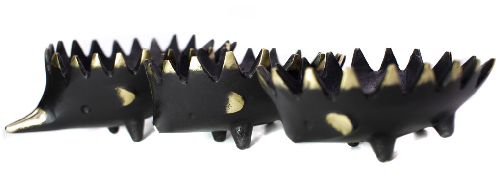 Walter Bosse Hedgehog Ashtrays - Sharp Spines