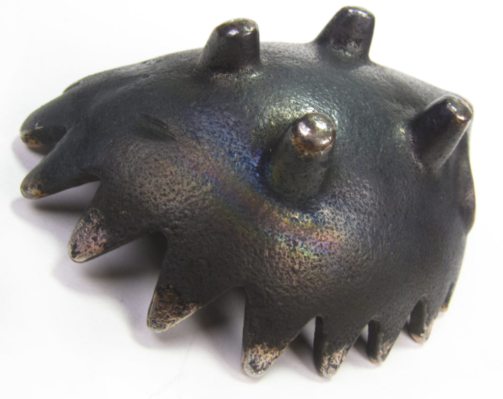 Rainbow Patina on Walter Bosse Hedgehog Ashtrays