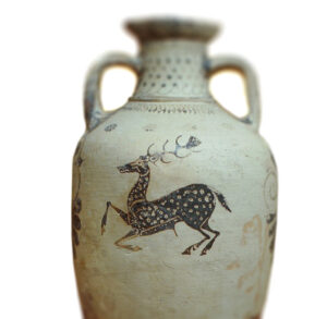 Ancient Greek Amphora from Rhodes with fallow deer