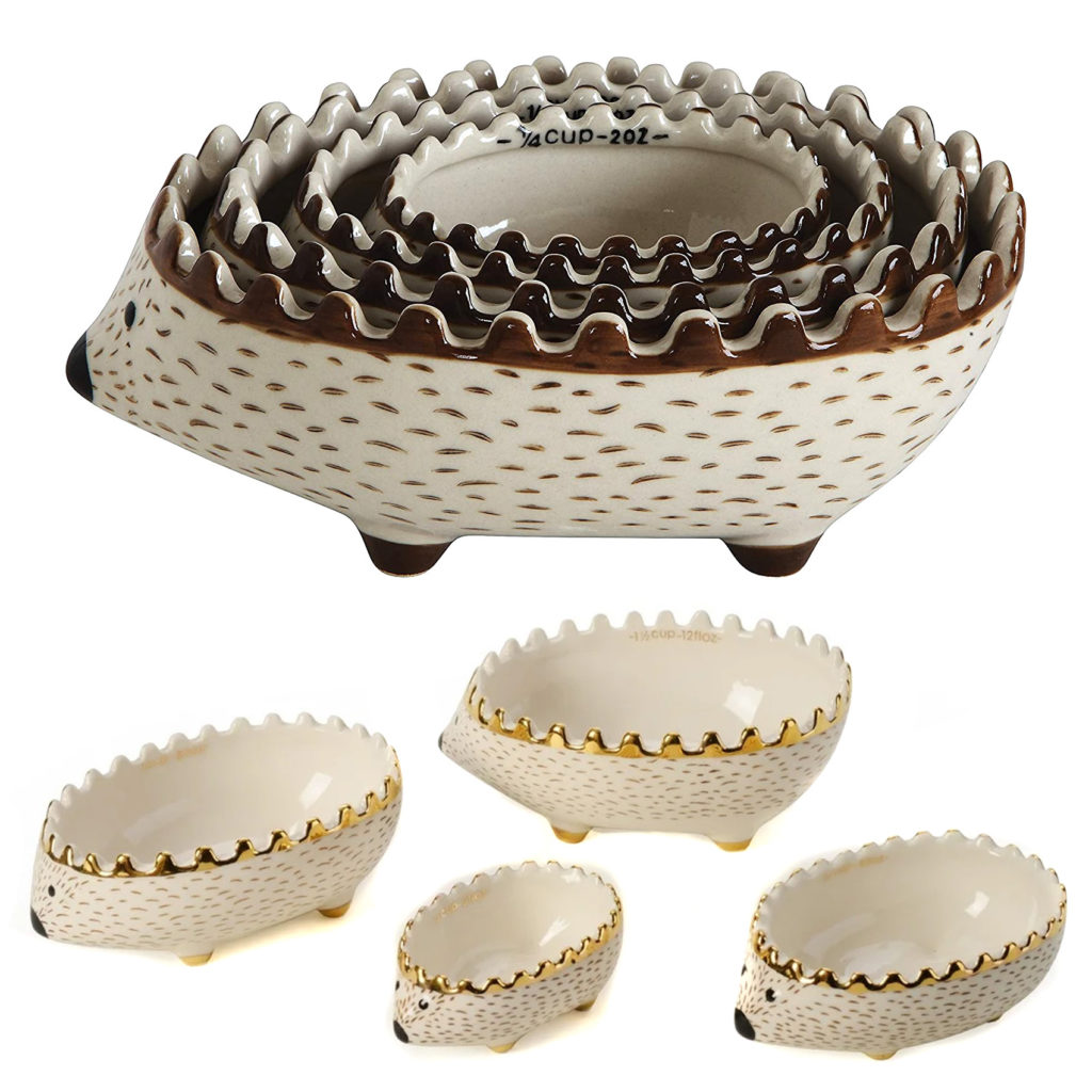 Ceramic Hedgehog Measuring Cups