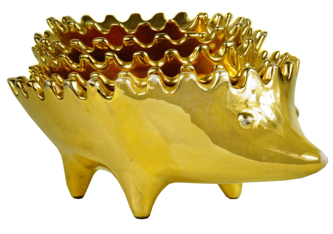 Este Italy - Golden Porcelain Hedgehogs
