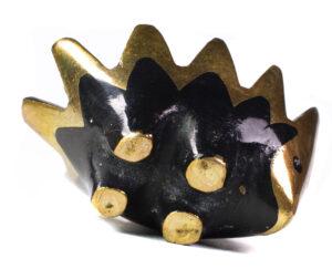 French Brass Hedgehog Baby