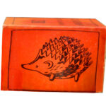 Orange Russian Hedgehog Ashtray Box