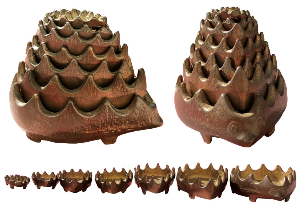 Weird Hedghog Ashtrays